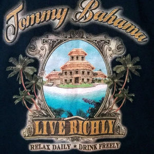Tommy Bahama RELAX Live Richly Navy Blue Tee L
